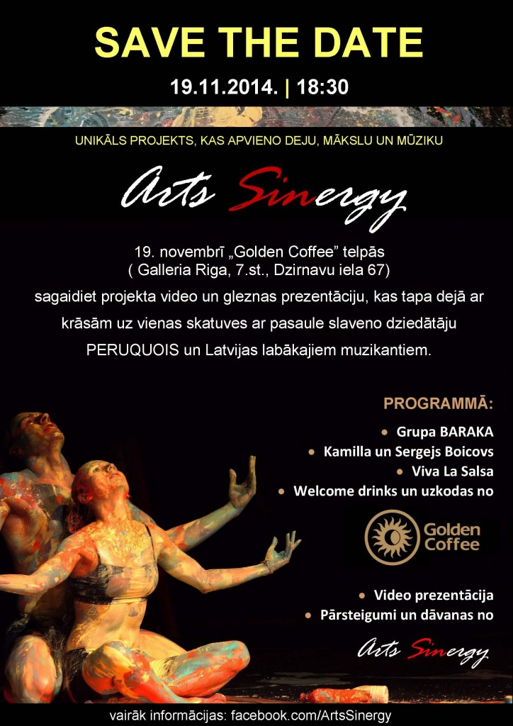 Arts Sinergy - Save The Date