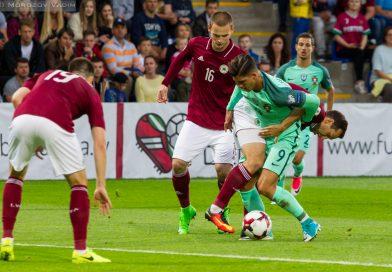 Матч Латвия — Португалия в Фотографиях